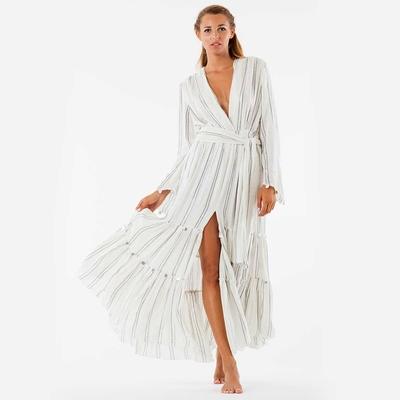 Robe de plage argentée bohème Nataly Silver