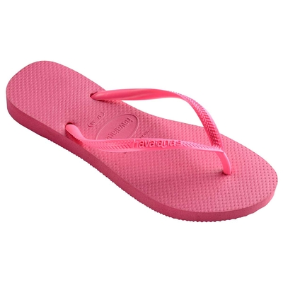 Tongs de plage roses fuchsia slim