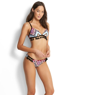Maillot de bain triangle multicolore ethnique Sahara Nights (Haut)