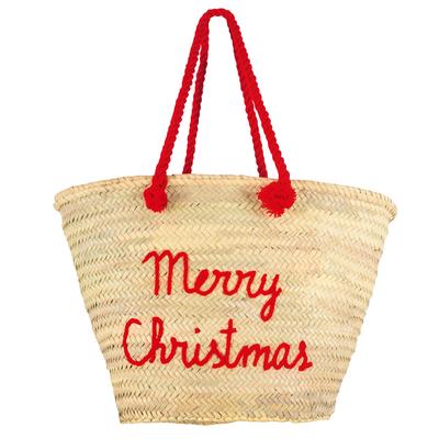 Panier de plage Merry Christmas rouge Edition de Noël