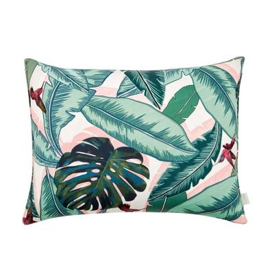 Coussin rose imprimé palmier Palm Beach