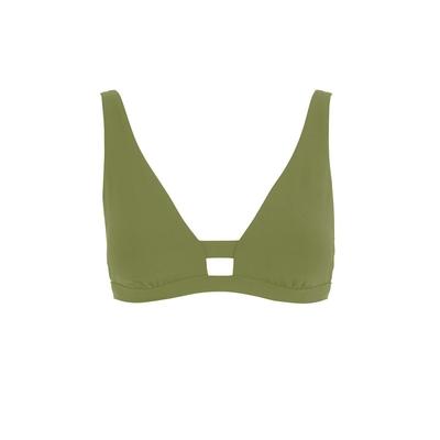 Maillot de bain triangle vert kaki Active (Haut)