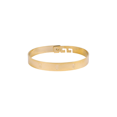 Bracelet en acier ananas doré