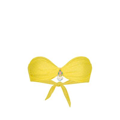 Maillot de bain bandeau jaune à pois Polkaswim (Haut)