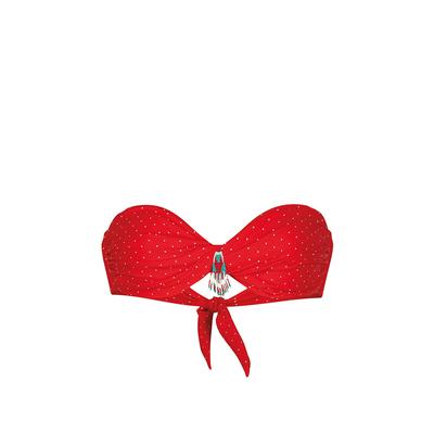 Maillot de bain bandeau rouge à pois Polkaswim (Haut)