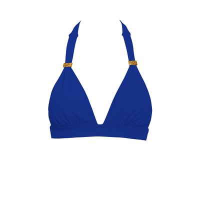 Maillot de bain triangle bleu électrique Color Mix (Haut)