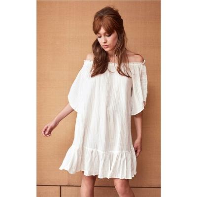 Robe courte blanche Rayane