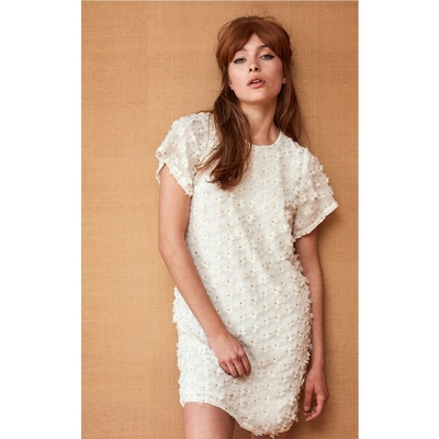 Robe courte blanche Rosanne