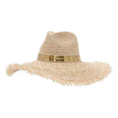 Chapeau de paille beige doré Chypre