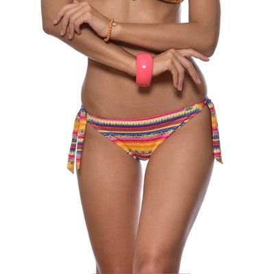 Maillot culotte à noeuds jaune imprimé ethnique Chinka (Bas)