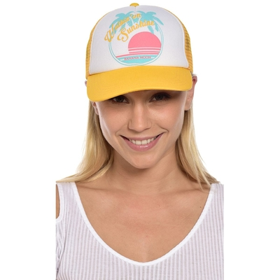 "Casquette jaune ""Walkin'on sunshine"" Breathy"