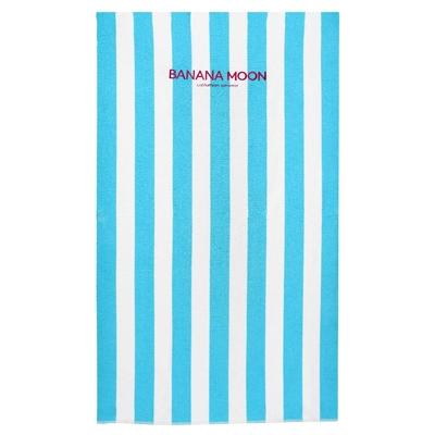 Serviette de plage à rayures bleues et blanches Towely