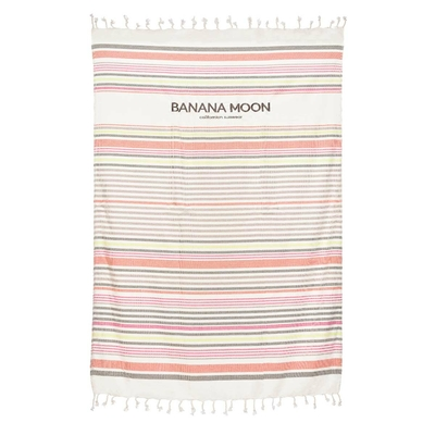 Fouta de plage blanche à rayures multicolores Marbella