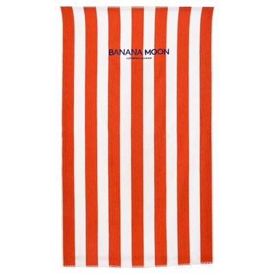 Serviette de plage à rayures oranges et blanches Towely
