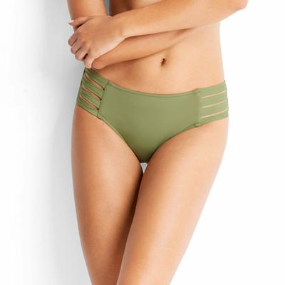 Maillot de bain culotte à liens vert kaki Active (Bas)