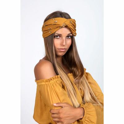 Turban jaune safran Gemma