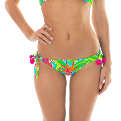 Maillot de bain culotte brésilienne verte Paradise (Bas)