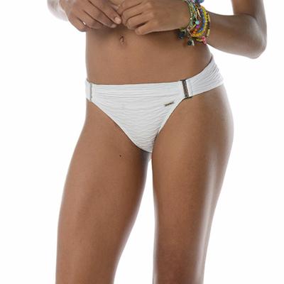Maillot de bain culotte drapée blanche Aldridge (Bas)