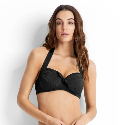Seafolly - Haut de maillot de bain push-up noir
