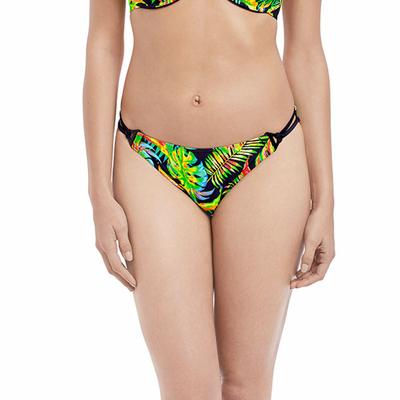 Maillot culotte échancrée multicolore imprimé exotique Electro Beach (Bas)