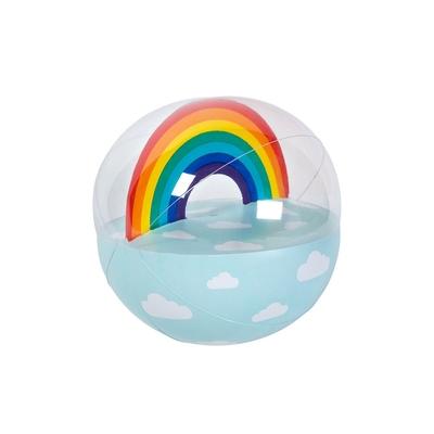 Petit ballon gonflable bleu Arc-en-ciel