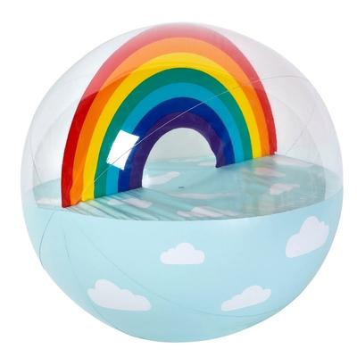 Ballon de plage gonflable XL bleu Arc-en-ciel