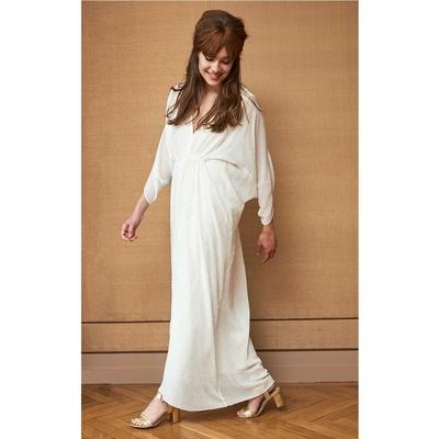 Robe longue blanc avec fils doré REACH