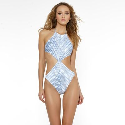 Trikini bleu à rayures blanches Modern Mariner