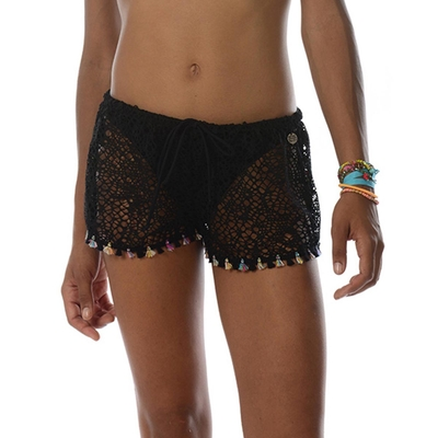 Short de plage noir Seethrough