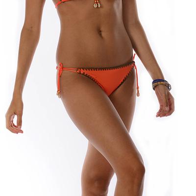 Maillot de bain culotte à noeuds orange Ethnichic (Bas)