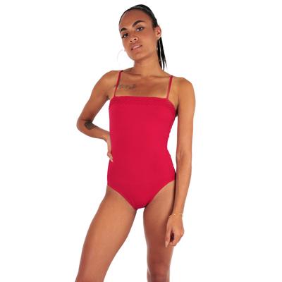 Maillot de bain une pièce ballerine rouge Usoa