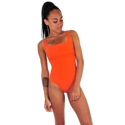 Maillot de bain une pièce nageur orange brique Hegoa