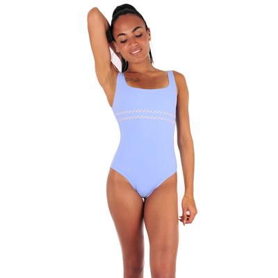 Maillot de bain une pièce dos nageur bleu pâle Icare