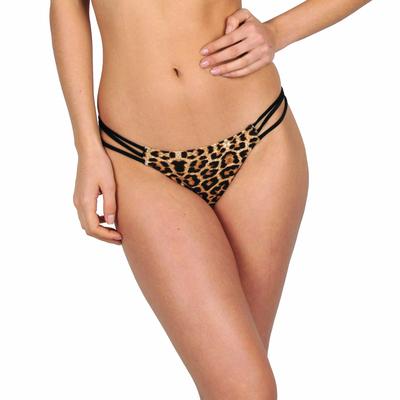 Mon Mini Itsy Bikini Tanga multi-liens léopard et noir  (Bas)