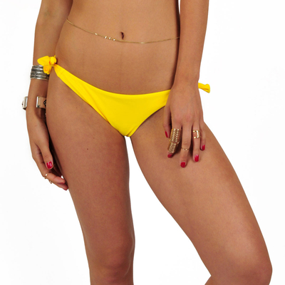 Mon Mini Bikini tanga jaune à noeuds (Bas)