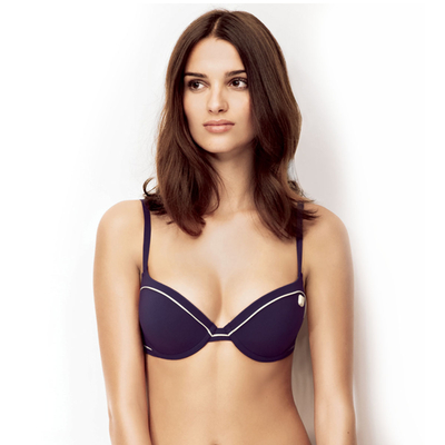 Haut de maillot Push Up violet Retro Riviera