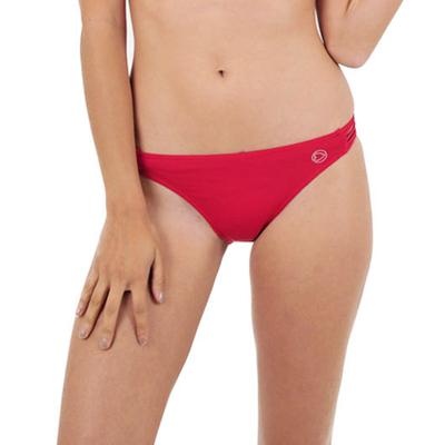 Maillot de bain culotte rouge carmin multiliens Indira (Bas)