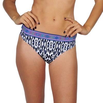 Bas de maillot de bain imprimé bleu Santorin