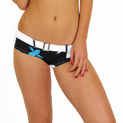 Shorty ceinture Kingston imprimé noir (Bas)
