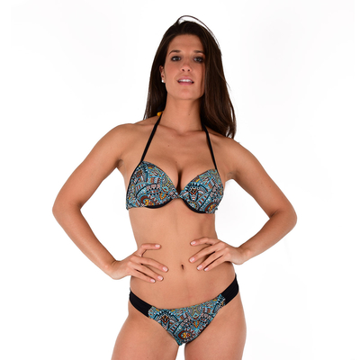 Maillot 2 pièces push-up multicolores Africa