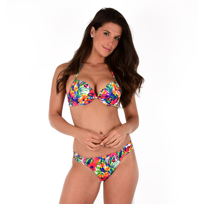 Maillot 2 pièces push-up multicolores Ariana