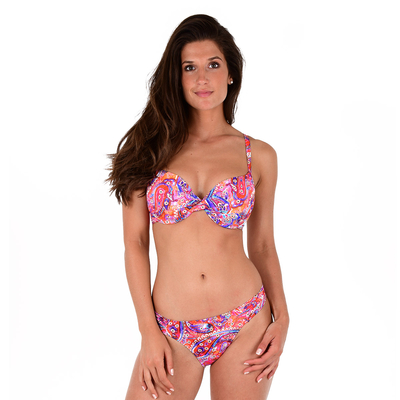 Maillot 2 pièces push-up multicolore bonnet D Kashmir