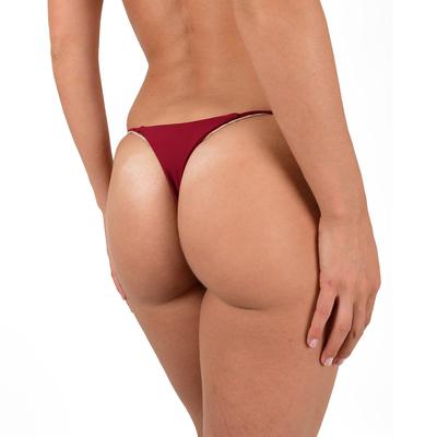 Maillot de bain string rouge bordeaux (Bas)