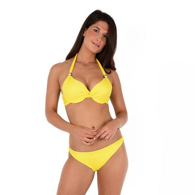 Maillot de bain deux pièces push-up jaune Unicool