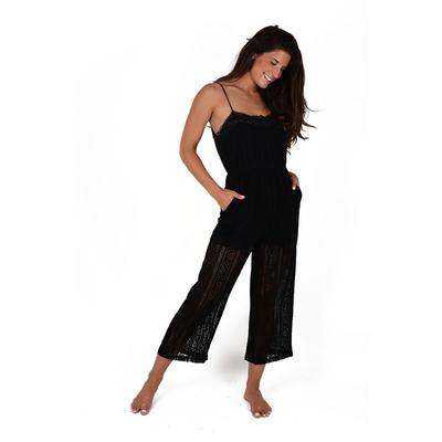 Combinaison pantalon en crochet noir