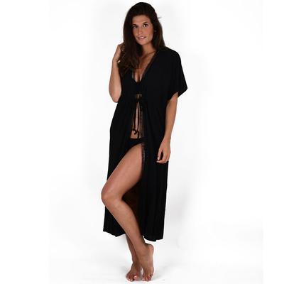 Kimono noir mi-long