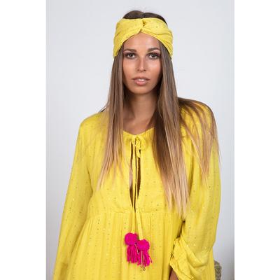 Turban précieuse jaune