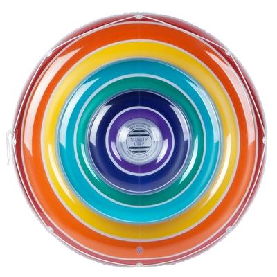 Bouée ronde multicolore arc-en-ciel
