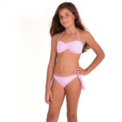 Mon Mini Twist Bikini rose pastel 2 pièces fille
