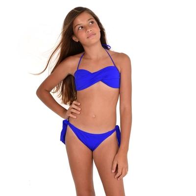 Mon Mini Twist Bikini bleu roi 2 pièces fille